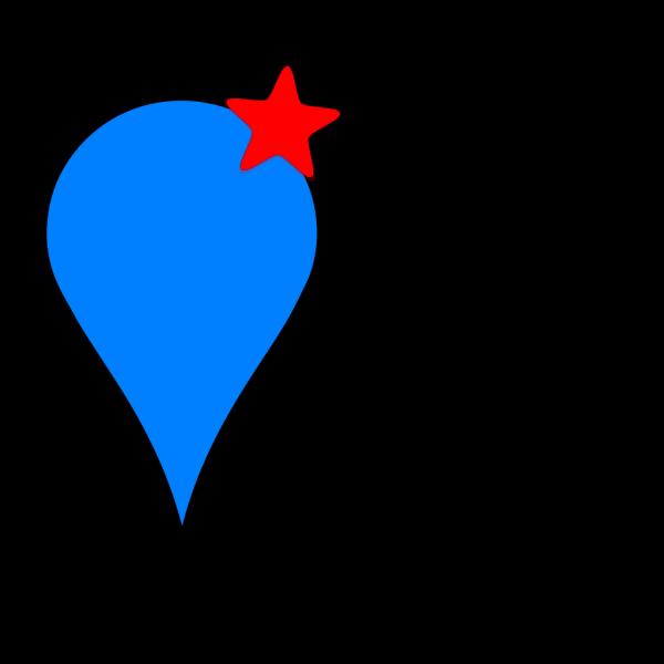 Bluepinstarred PNG Clip art