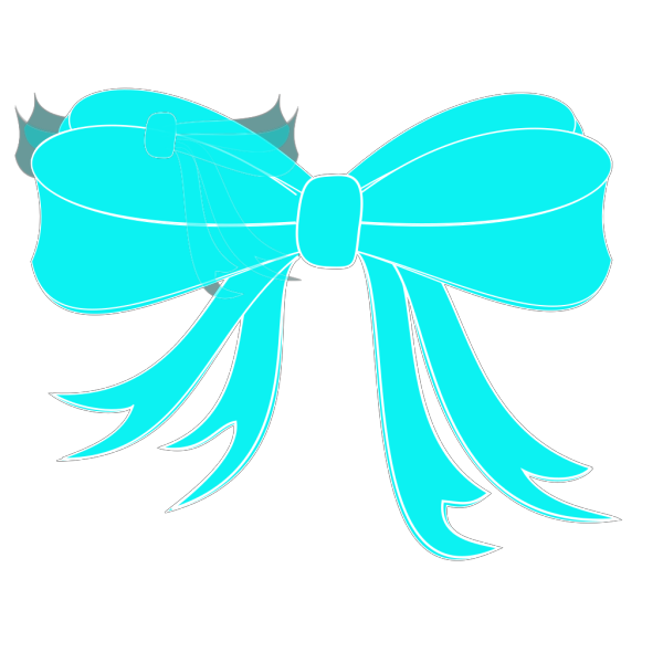 Turquoise Bow Ribbon PNG Clip art