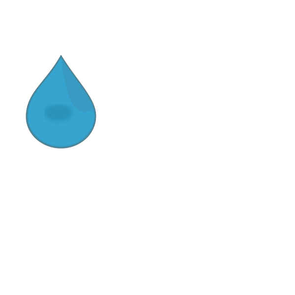 Blue Water Drop PNG Clip art