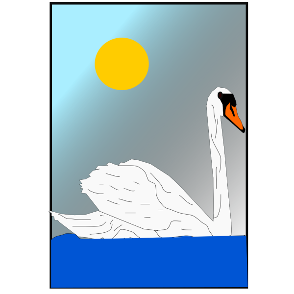 Swimming Swan PNG images