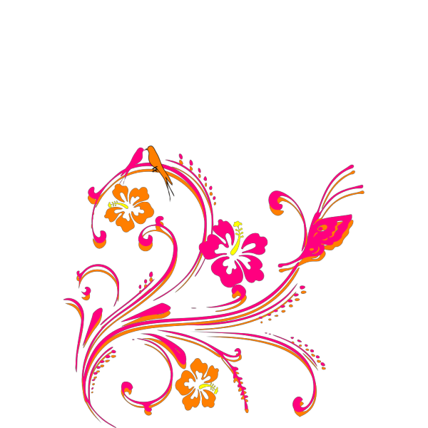 Hibiscus-blue-three-together PNG Clip art