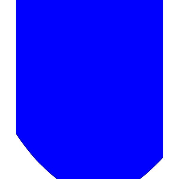 New Blue Crest Shield PNG Clip art