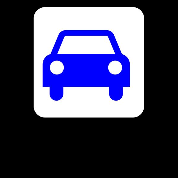Blue Car Silouette PNG Clip art
