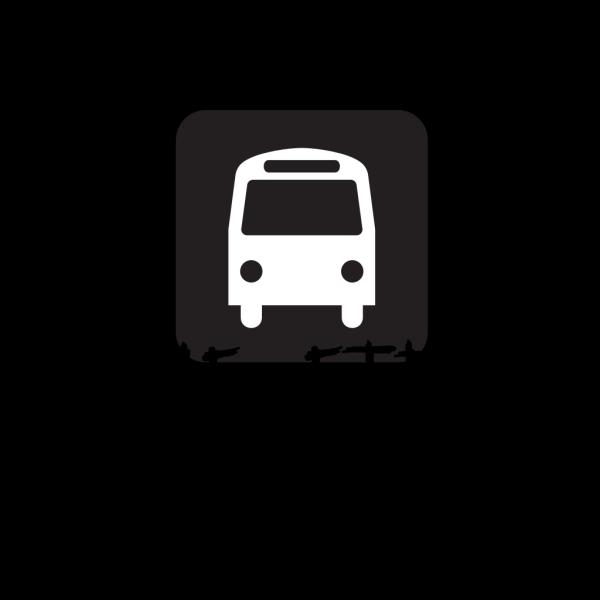 Bus Stop (transit - Blue) PNG Clip art
