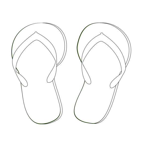 Blue Flip Flops PNG Clip art