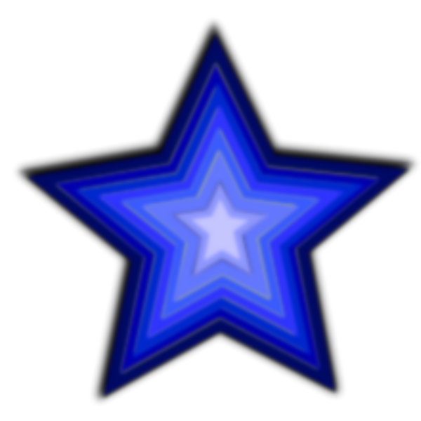 Blue Star PNG icon