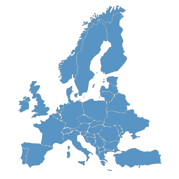 Europe Map Blue PNG Clip art