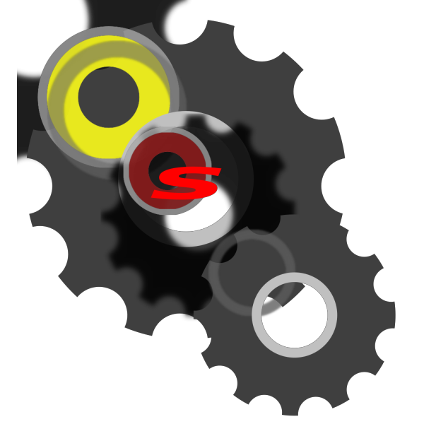 Blue Gear Wheel PNG icons