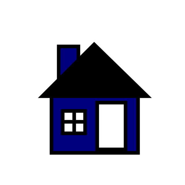 Blue House The PNG Clip art