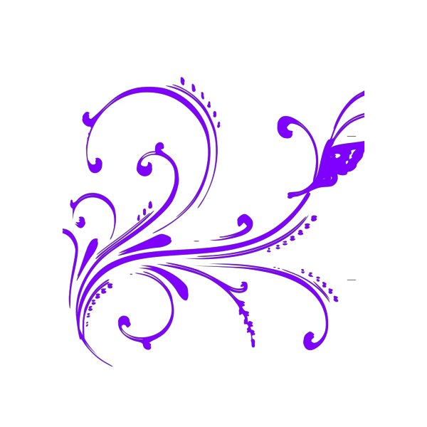 Pink And Purple Butterfly Side View PNG Clip art