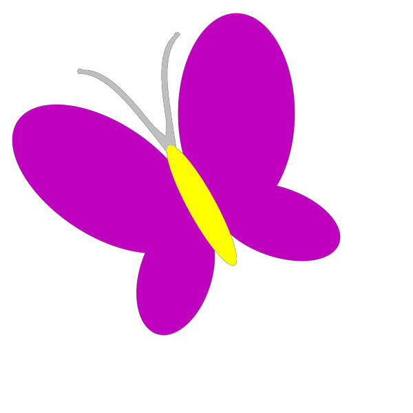 Pink And Purple Butterfly Top View PNG Clip art
