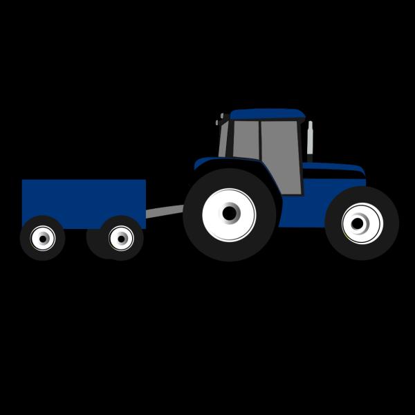 Blue Tractor PNG Clip art