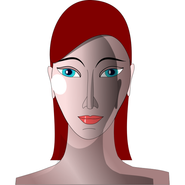 Woman With Red Hair And Blue Eyes PNG Clip art