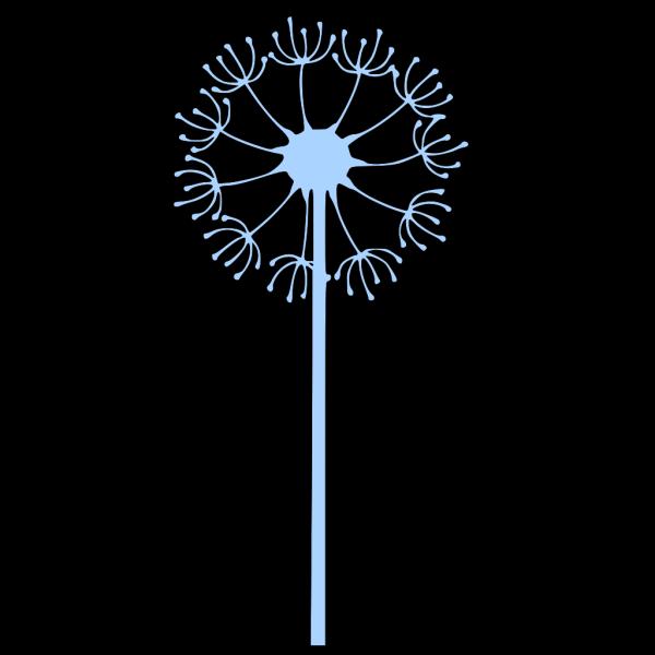 Dandilion Blue Flower PNG Clip art
