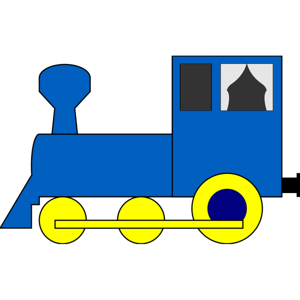 Simple Train Engine PNG Clip art