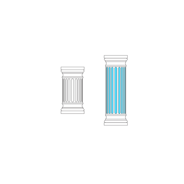 Blue Column PNG Clip art