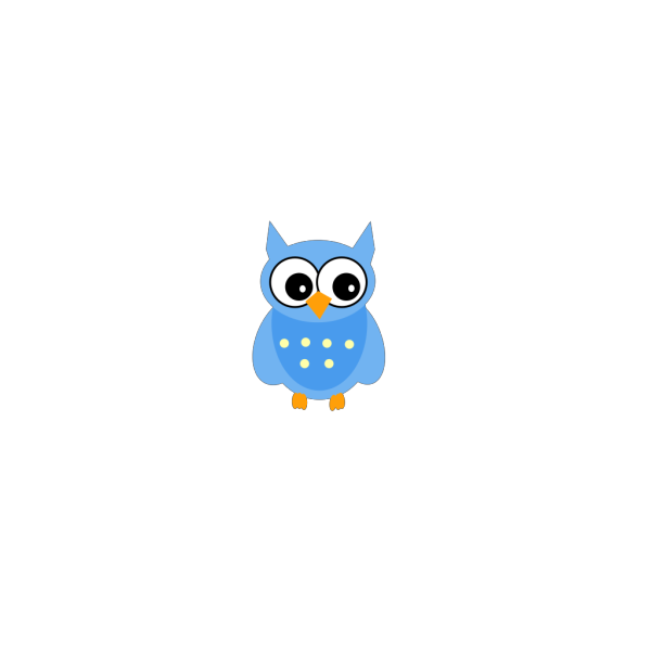 Blue Mother Owl PNG images