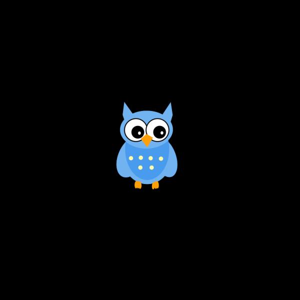 Blue Mother Owl PNG Clip art