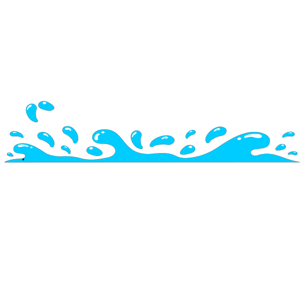Blue Water Splash Few More Drops PNG Clip art