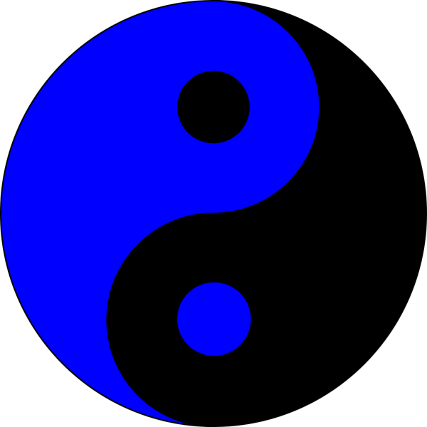 Blue Ying Yang PNG icons