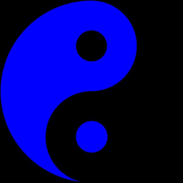 Blue Ying Yang PNG Clip art