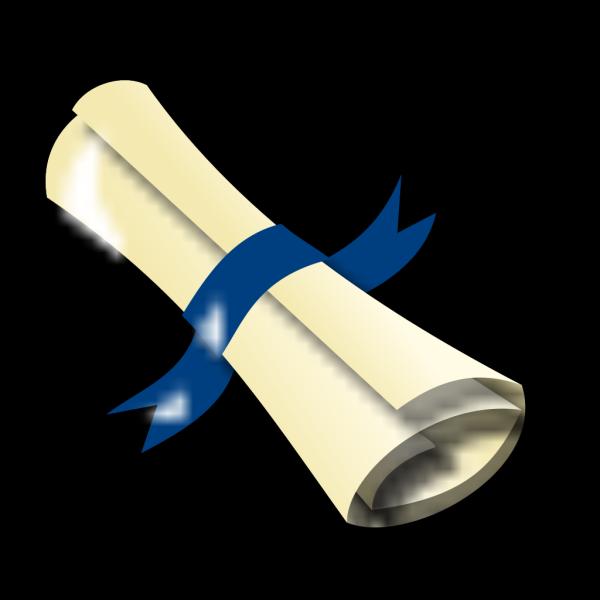Blue Diploma PNG Clip art