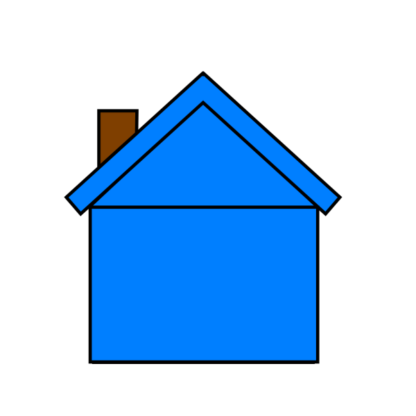 Blue Houseedit PNG Clip art