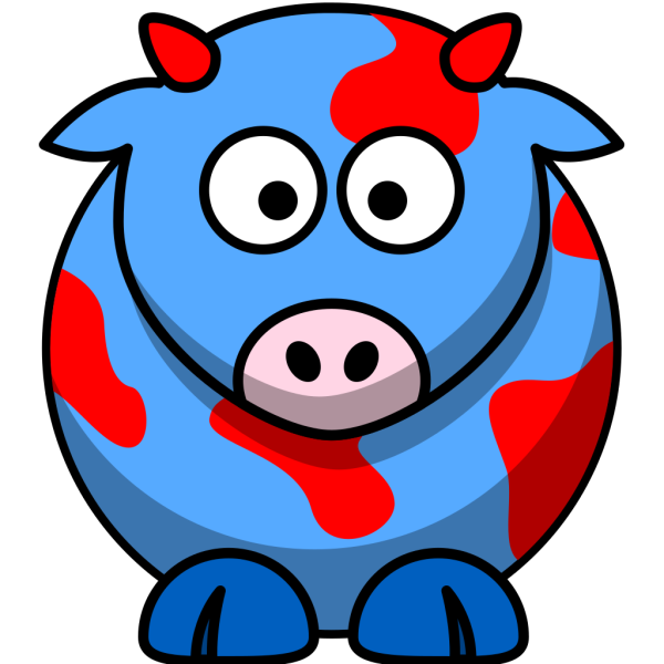 Blue/red Cow PNG Clip art