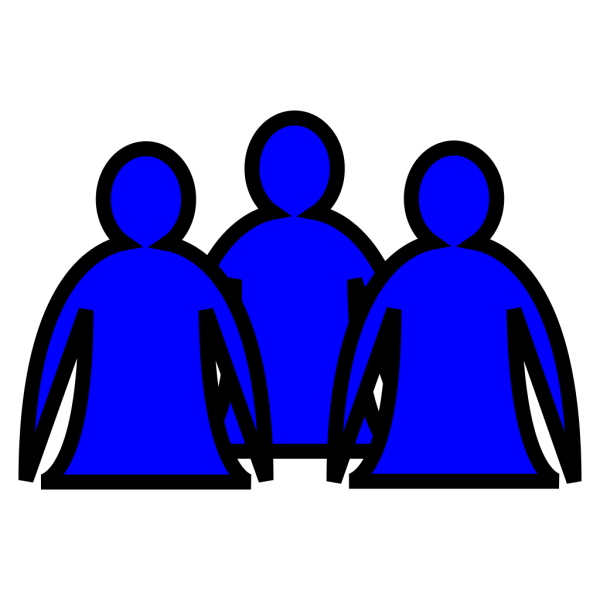 Abstract People Blue PNG Clip art