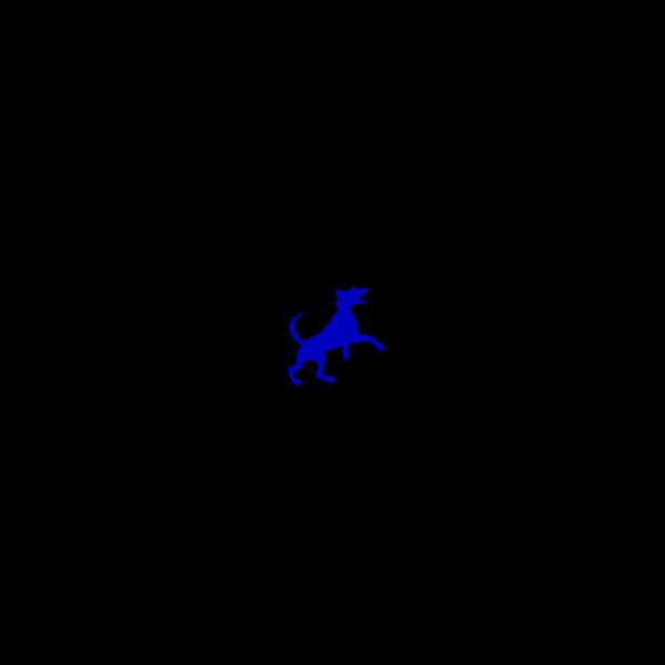 Blue Dog Dancing PNG Clip art