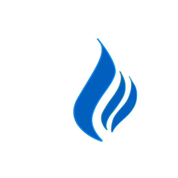 Blue Flame Solid Color PNG Clip art