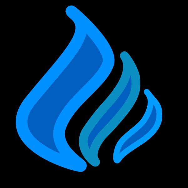 Blue Flame Solid Color6 PNG Clip art