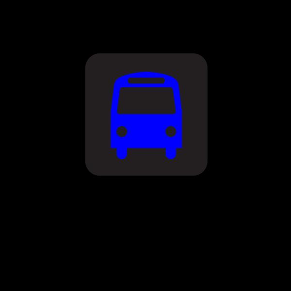 Bus Station Icon Black Blue PNG Clip art