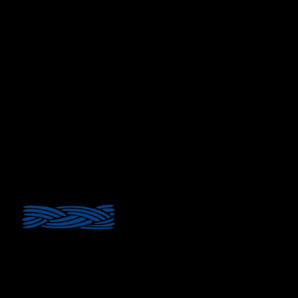 Braid Border Blue PNG Clip art