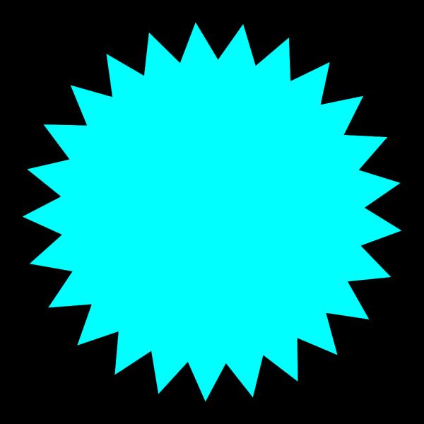 Blue Sun Star PNG Clip art