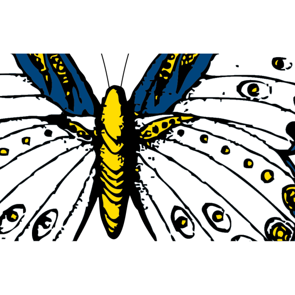 Large Blue Butterfly PNG Clip art