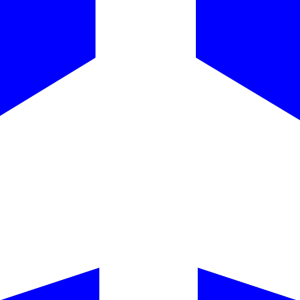 White Aeroplane With Blue Background PNG Clip art