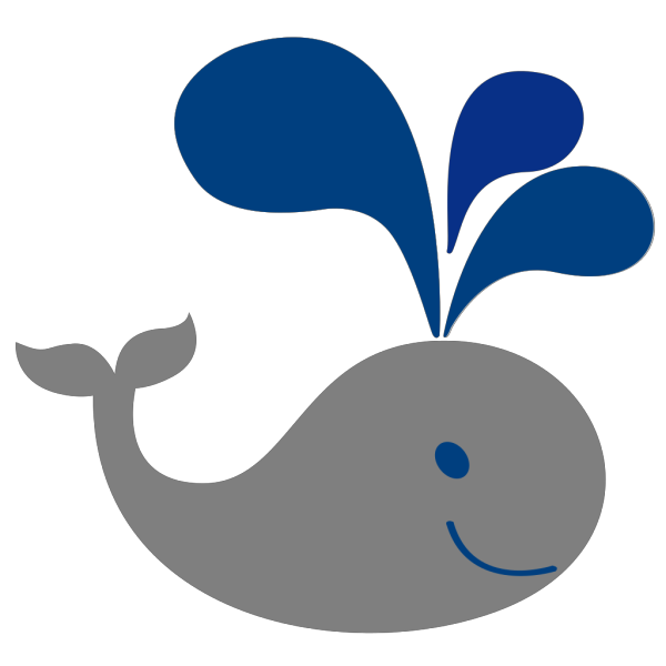 Blue Grey Whale PNG clipart
