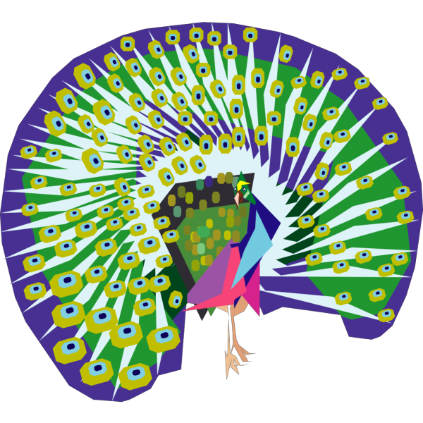 Cartoon Peacock PNG Clip art