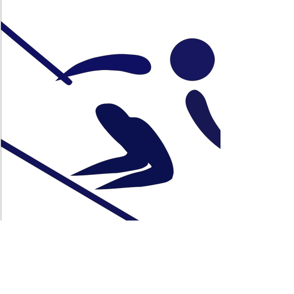 Blue Skiier PNG Clip art
