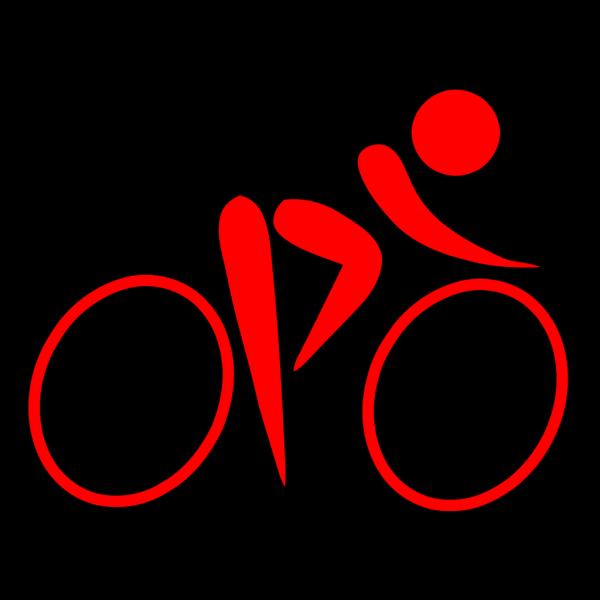 Blue Cyclist PNG Clip art