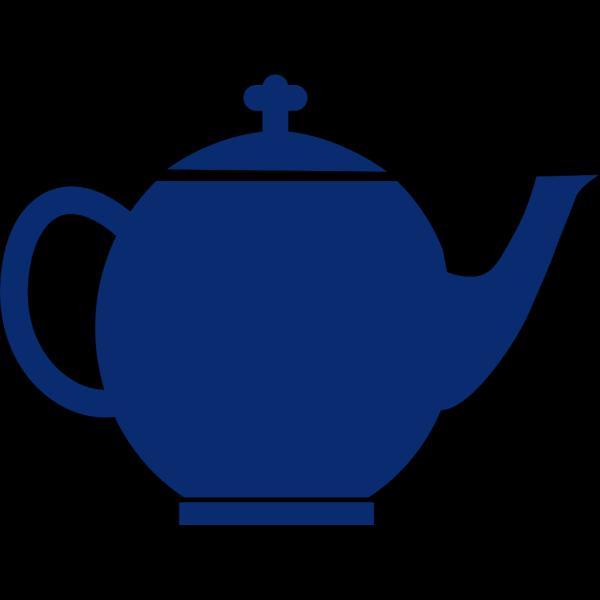 Blue Jubilee Tea Pot PNG Clip art