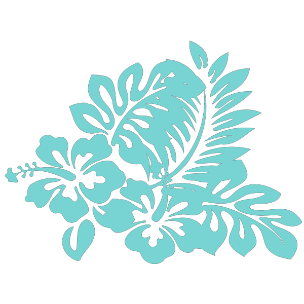 Blue Tropical Flower PNG Clip art