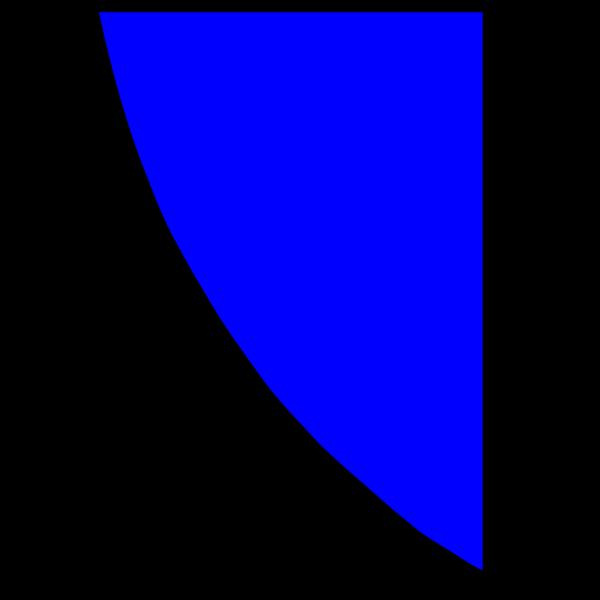 Royal Blue Quadrant PNG Clip art