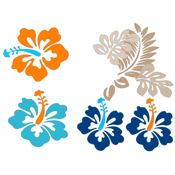 Tropical Flowers PNG Clip art