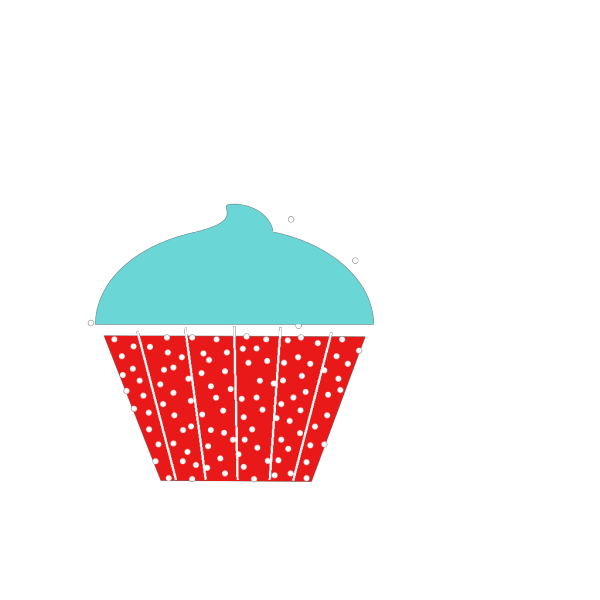 Blue And Red Polkadot Cupcake PNG Clip art