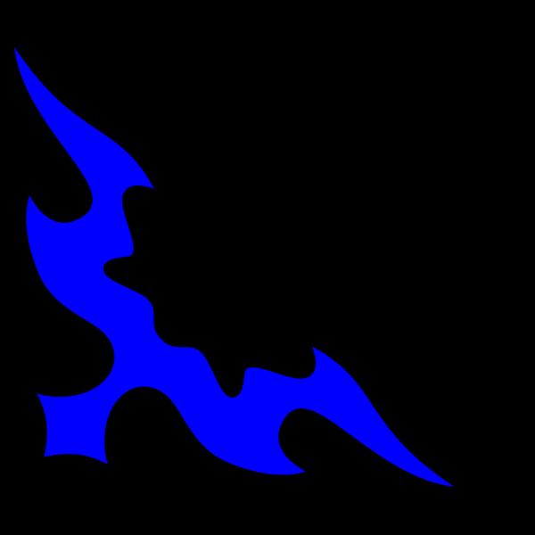 Tribal Fire Blue Purple PNG Clip art