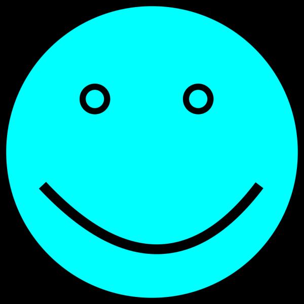 Light Blue Face PNG Clip art