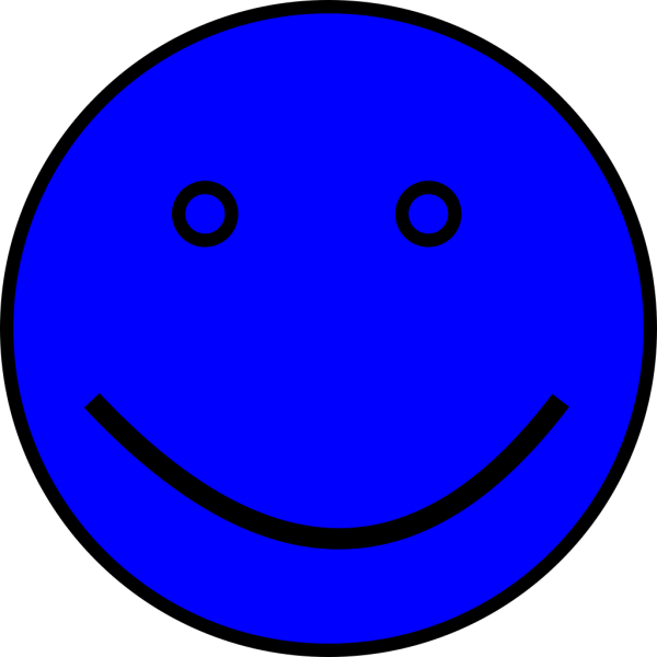 Blue Face PNG clipart