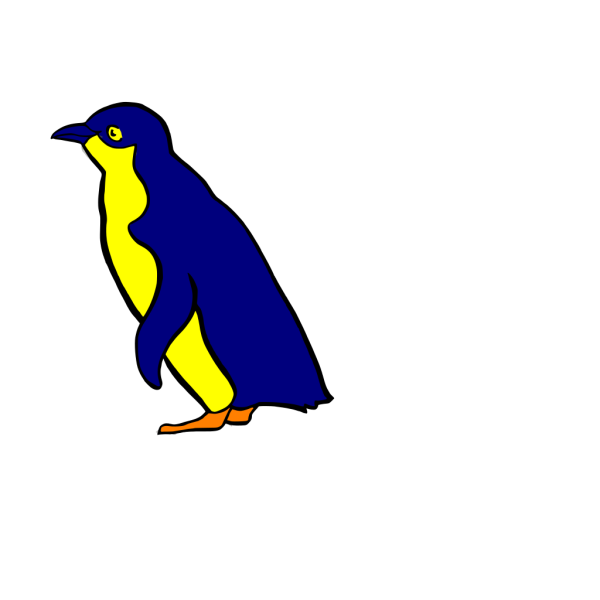 Penguin Blue And Yellow PNG Clip art